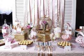 rose gold candy table celebrity candy buffet party planner