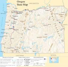 Burns Oregon Map Oregon United States Map Afputra Com
