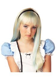 alice costume wig cheap blonde wigs for halloween