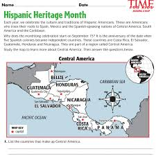 for teachers download sample worksheets for hispanic heritage