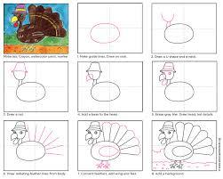 draw thanksgiving turkey draw a cartoon turkey art projects for kids