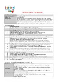 resume objective for preschool teacher resume samples for montessori teachers frizzigame cover letter sample resume for preschool teacher sample resume for