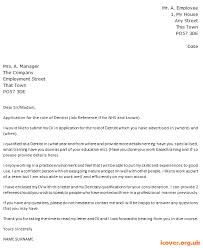 dentist cover letter example u2013 cover letters and cv examples