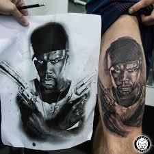 portrait tattoo 50 cent done pitbull tattoo thailand tattoo