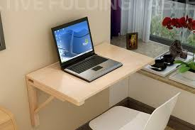 Laptop Desk 80 50cm Wall Mounted Laptop Desk Solid Wood Folding Office Desk