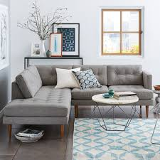 articles with modern grey sofa with chaise tag charming modern peggy mid century terminal chaise sectional for the home