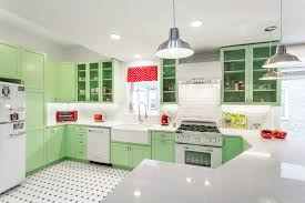 vintage glass front kitchen cabinets retro 50 s kitchen renovation traditional kitchen