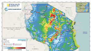 Tanzania Map Tanzania Solar And Wind Potential Could Help Meet Future Power