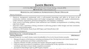 Sample Construction Project Manager Resume by Cover Letter For Project Manager In Construction