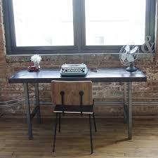 Work Desk Industrial Furniture Reclaimed Wood Modern Work Desk