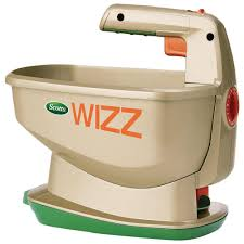 scotts 2 500 sq ft wizz handheld power spreader 71131 the home