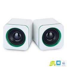 Small Desk Top Universal White Green Mini Active Subwoofer Small Speakers Imp 823