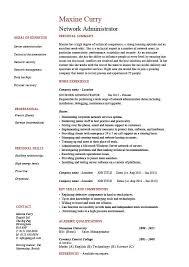 System Administrator Resume Template Download Storage Administration Sample Resume