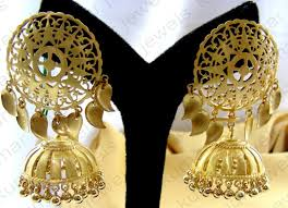 punjabi jhumka earrings kumar jewels party wear jhumka earrings traditional jhumka