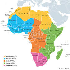 africa map labeled countries africa regions political map with single countries united nations