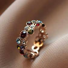 coloured rings jewelry images Alliance ring with different coloured stones and sizes easy to jpg