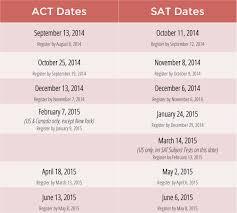 arborbridge 2014 2015 act sat test dates announced