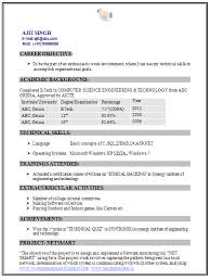 Best Technical Resume Examples by Curriculum Vitae Samples For Electrical Engineers