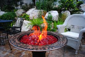 Firepit Glass Small Pit Propane Glass Pit Outdoor Pit Glass