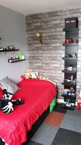 Minecraft Bedroom Ideas Minecraft Bedroom Using Ikea Furniture In Black Red U0026 Grey