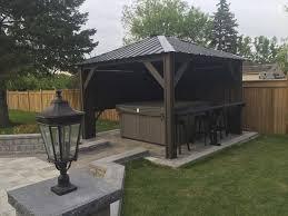 Backyard Idea Tub Gazebo Backyard Idea Spa Outdoor Spa Living Pinterest