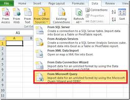 How To Use Spreadsheet As Database Import Ms Access Database To Excel 2010 Ms Query