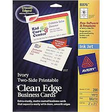 Ivory Business Cards Avery Clean Edge Inkjet Business Cards Ivory 2