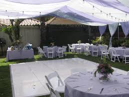 backyard party lavender and white gems parties event rentals