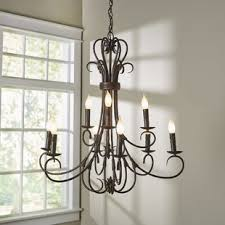 Real Candle Chandelier Candle Chandeliers You Ll Wayfair