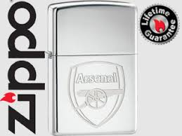 arsenal zippo lighter arsenal fc official engraved crest high polished chrome zippo lighter