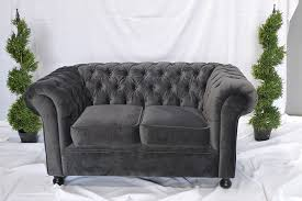 grey chesterfield sofa grey velvet chesterfield inspired 3 seat sofa funky furniture hire