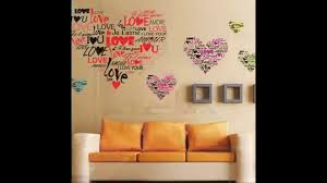 heart love amour removable vinyl wall decal stickers art mural