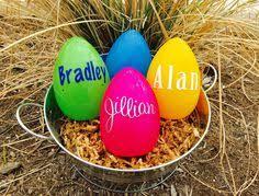 personalized easter eggs personalized easter egg monogammed easter egg plastic easter