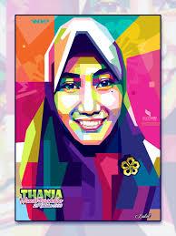 tutorial wpap photoshop 7 wpap hijab wpap vector hijab portrait illustration vectorart