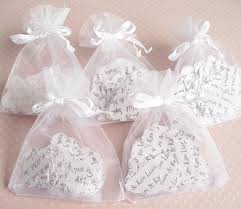 organza bag 10 x confetti organza bag favors with personalised confetti hearts