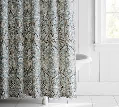 Shower Curtain For Roll Top Bath Mackenna Shower Curtain Pottery Barn