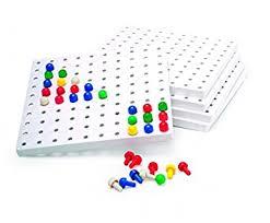 peg board 5 peg boards pegs invicta amazon co uk toys games