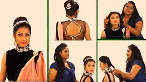 indian bun hairstyles step by step simple hairstyles for sarees