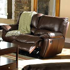 Double Recliner Leather Double Reclining Loveseat With Console Ashley Double