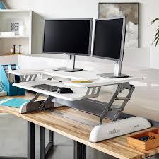 sit stand desk converter workstation solution