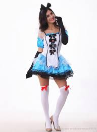 party city puerto rico halloween costumes alice in wonderland role play spaghetti strap dress cosplay