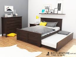 Bunk Beds  Double Bed With Trundle Brown Kids Bedroom - Melbourne bunk beds