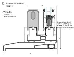 Window Sill Detail Cad Vista Xl Aluminium Threshold Detail Cad