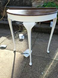 white half moon table half table for hallway white half moon table vintage hallway sanded