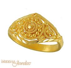 gold ring design baby girl gold ring bjri3387 22kt baby girl gold ring with