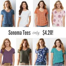 kohls womens blouses kohl s s sonoma and barrow tees only 4 20 shipped