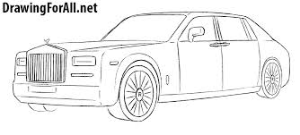 how to draw a rolls royce phantom drawingforall net