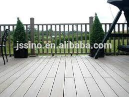 fake wood plastic waterproof wpc balcony flooring patio floor