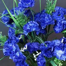blue carnations 252 artificial royal blue silk carnation flowers wedding bridal