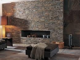 steinmauer wohnzimmer steinwand im wohnzimmer wanddeko mit verblendsteinen